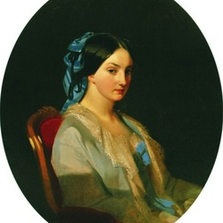Пазл онлайн: Портрет молодой женщины, возможно княгини Елизаветы Васильевны Кочубей