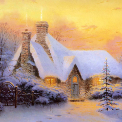 Пазл онлайн: Рождественский дом