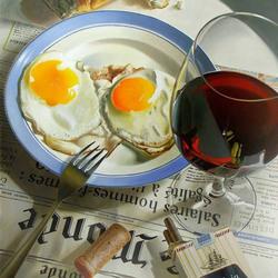 Пазл онлайн: Завтрак холостяка