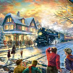 Пазл онлайн: Рождественский поезд