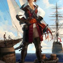 Пазл онлайн: Пиратка