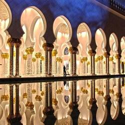 Пазл онлайн: Мечеть в Абу-Даби
