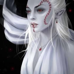 Пазл онлайн: Темная эльфийка
