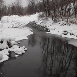 Пазл онлайн: Зимняя река