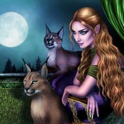 Пазл онлайн: Тени лунной ночи