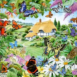 Пазл онлайн: Из жизни бабочек