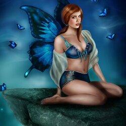 Пазл онлайн: Вutterfly blues / Блюз бабочки