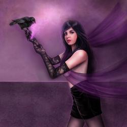 Пазл онлайн: Я приношу Вам фиолетовый свет