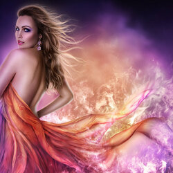 Пазл онлайн: Танец с огнем