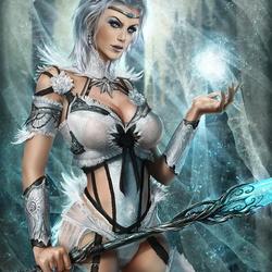 Пазл онлайн: Ледяная волшебница