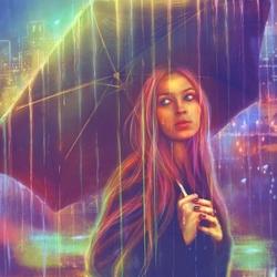 Пазл онлайн: Радужный дождь