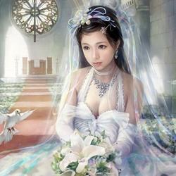 Пазл онлайн: Грустная невеста