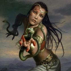 Пазл онлайн: Танец со змеей