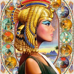 Пазл онлайн: Египтянка