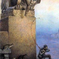 Пазл онлайн: Утренняя рыбалка