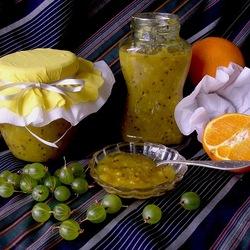 Пазл онлайн: Варенье из крыжовника и апельсина
