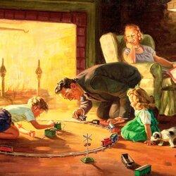 Пазл онлайн: Семейный вечер