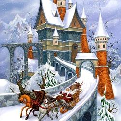 Пазл онлайн: Избушка Деда Мороза