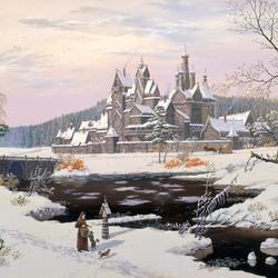 Пазл онлайн: Ведическая Русь. Древний город