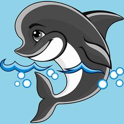 Пазл онлайн: Дельфинчик