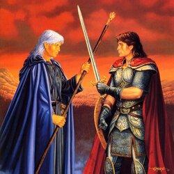 Пазл онлайн: Воин и колдун