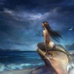 Пазл онлайн: Одинокая русалка