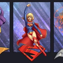 Пазл онлайн: Девушки DC Comics