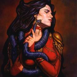 Пазл онлайн: Повелительница змей