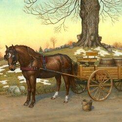 Пазл онлайн: Рабочий конь