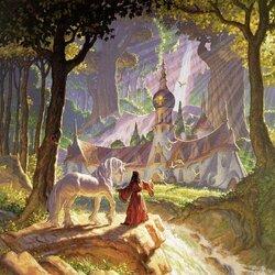 Пазл онлайн: Лесной замок