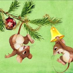 Пазл онлайн: Мышки-шалунишки