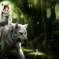 Пазл онлайн: Принцесса Мононокэ