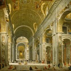 Пазл онлайн: Интерьер собора Святого Петра