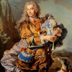 Пазл онлайн: Gaspard de Gueidan, играющий на волынке