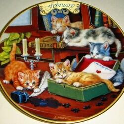 Пазл онлайн: Февральские котята