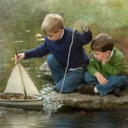 Пазл онлайн: Плыви, плыви, кораблик...