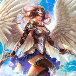 Пазл онлайн: Ангел - снайпер