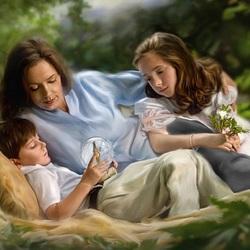 Пазл онлайн: Мама