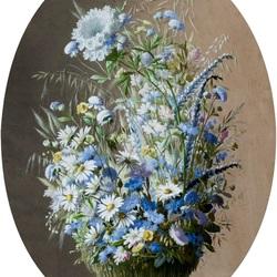 Пазл онлайн: Букет из полевых цветов