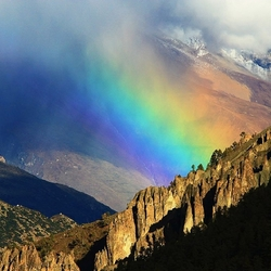 Пазл онлайн: Радуга над Гималаями, Непал