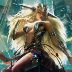 Пазл онлайн: Космическая блондинка
