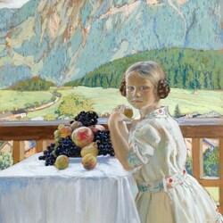 Пазл онлайн: Портрет Ирины Кустодиевой