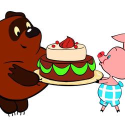 Пазл онлайн: Именинный торт