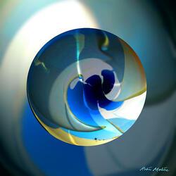 Пазл онлайн: Голубая фантазия