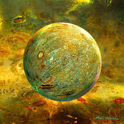 Пазл онлайн: Золотистый шар