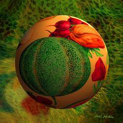 Пазл онлайн: Овощная фантазия