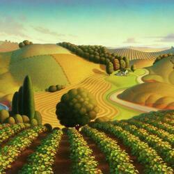 Пазл онлайн: Виноградные поля