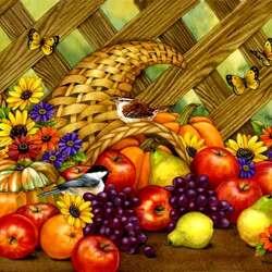Пазл онлайн: На День благодарения