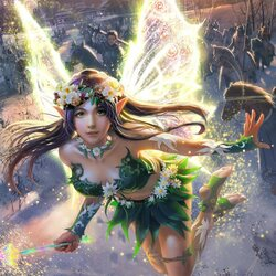 Пазл онлайн: Чудесная фея Райли