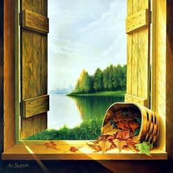 Пазл онлайн: На окне